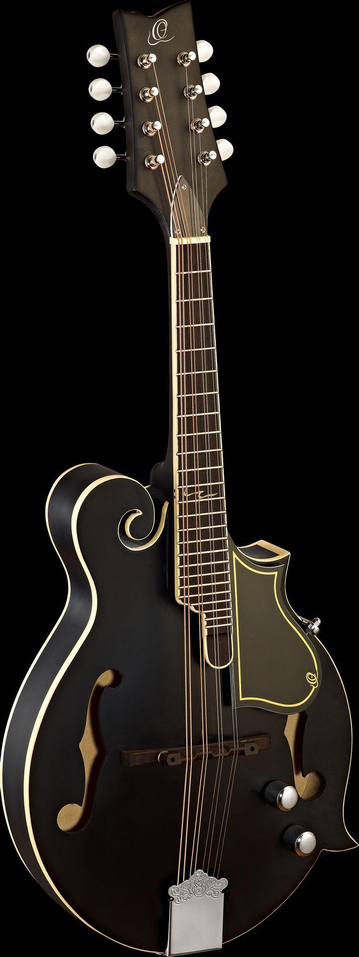 Ortega RMFE40SBK F-Style Mandoline mit PU