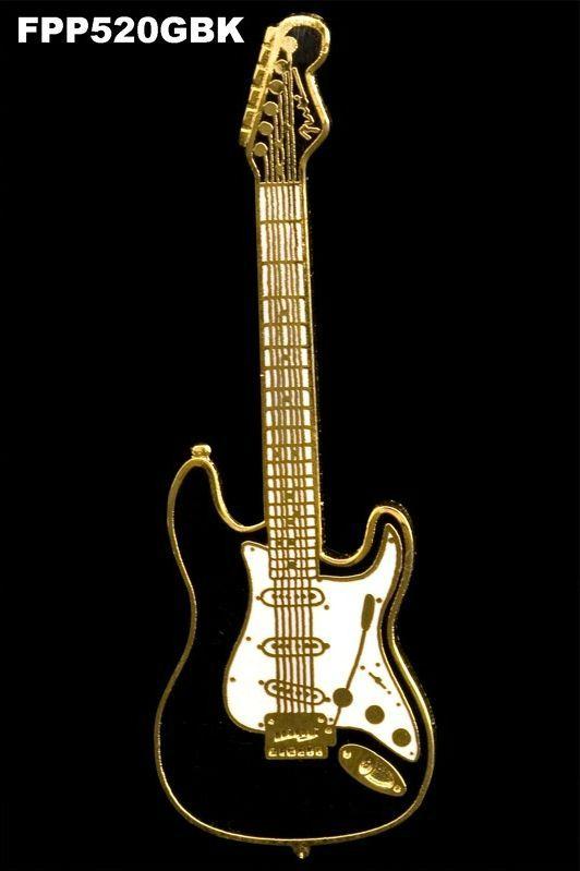 Anstecker E-Gitarre Stratocaster FP-Schmuck #520 Musikergeschenke Musikerschmuck