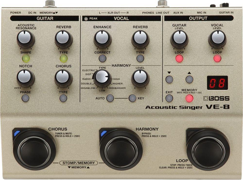 Boss VE-8 Acoustic Singer Bodeneffektgerät für singende Gitarristen