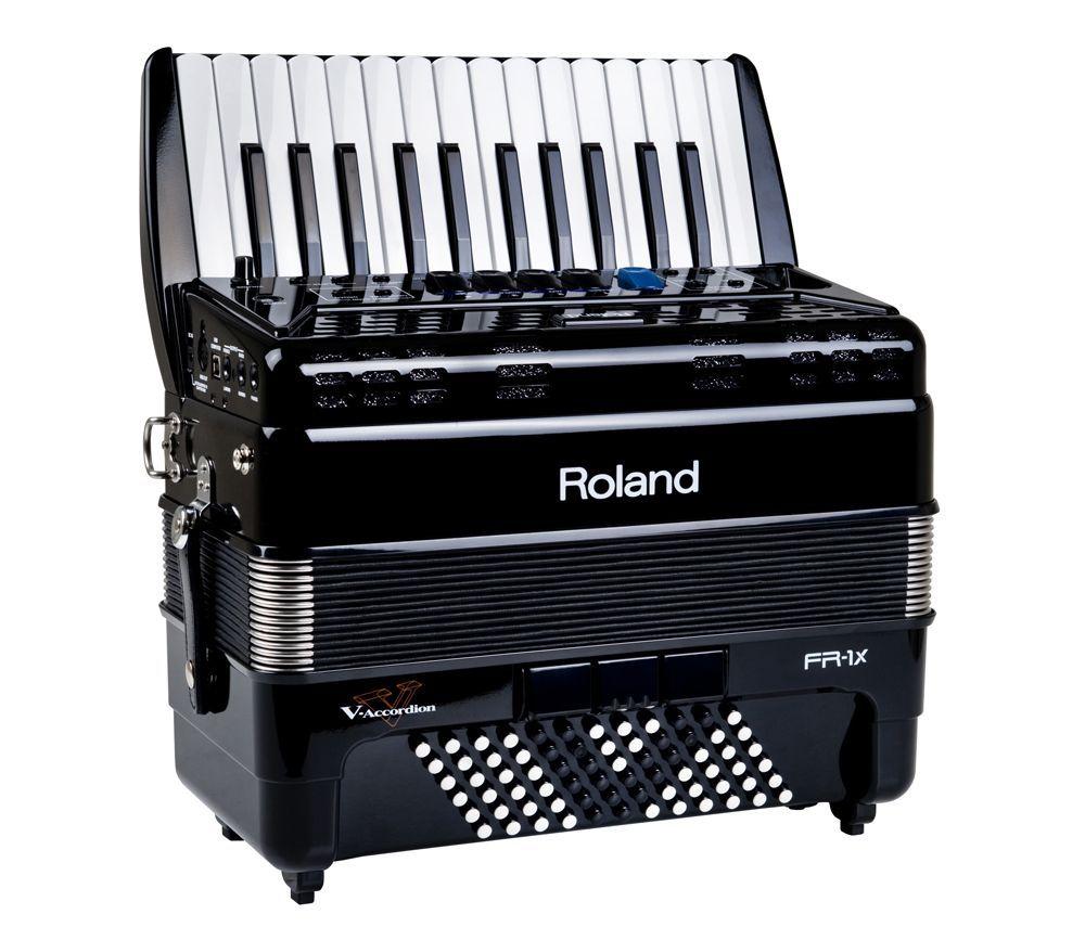 Roland FR-1X-BK schwarz, 26/72/IV/8/3,  V-Akkordeon mit Lautsprechersystem