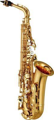 Yamaha YAS-280 Altsaxophon , hoch Fis-Klappe, Goldlack, Rucksackkoffer