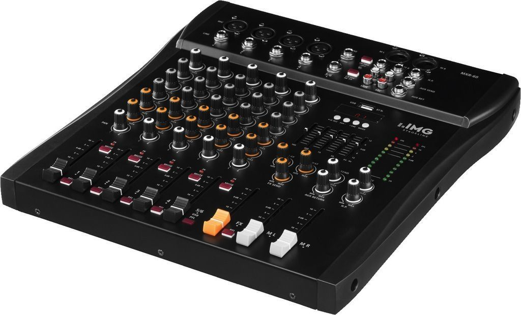 IMG Stage Line MXR-60  Mixer mit USB-Audiointerface und Bluetooth-Empfänger