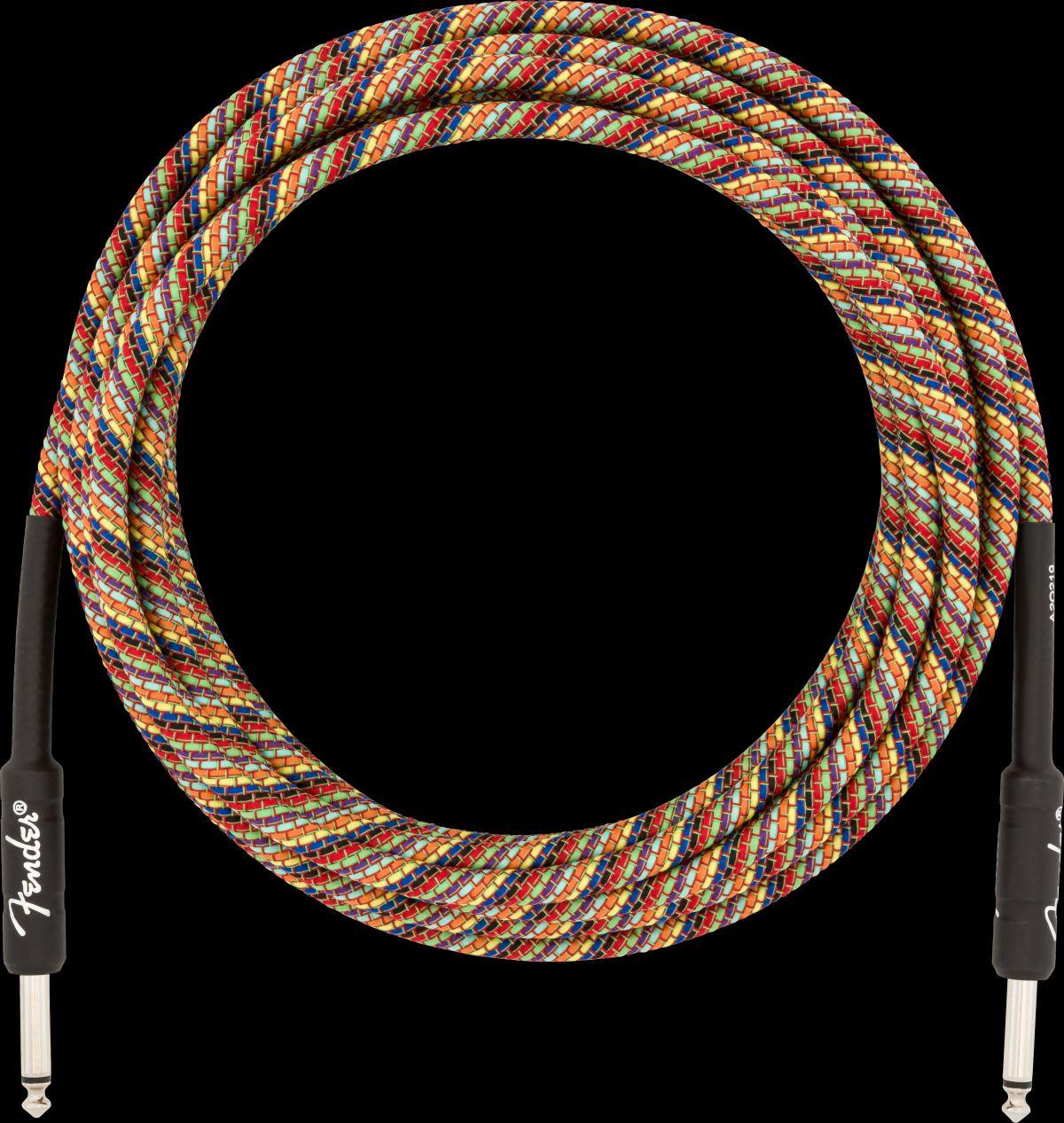 "Fender Festival Instrument Cable Rainbow 18,6"""
