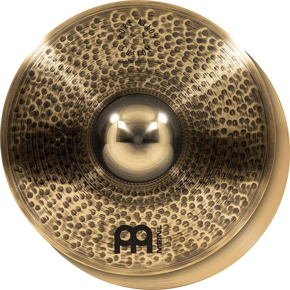 """Meinl 14"""" Pure Alloy Custom Medium Thin HiHat"""