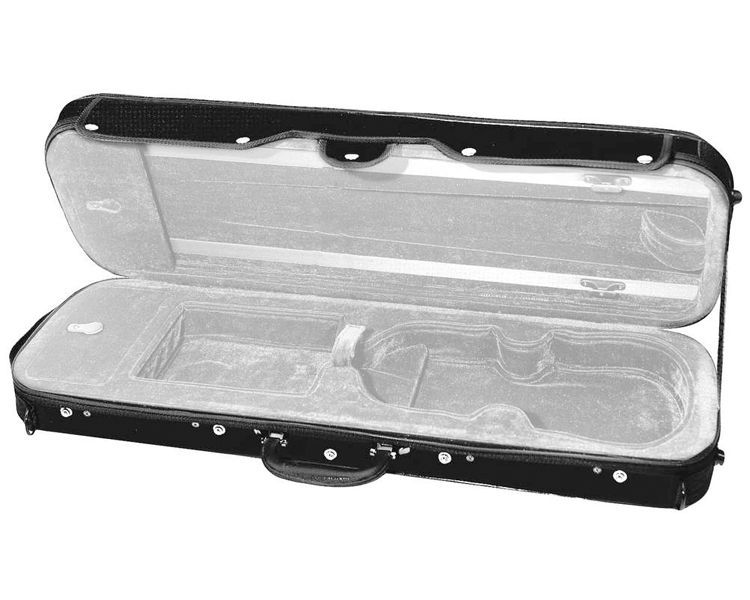 Etui Violine 4/4 Größe CVK-01 Koffer schwarz/grau, Rucksackträger