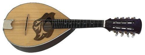 Gewa Flachmandoline, Mandoline in portugiesischer Bauform, Fichtendecke, Holz na