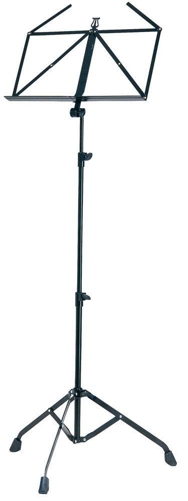 K&M 107 Notenpult schwarz 10700, 675 mm bis 1470mm ausziehbar