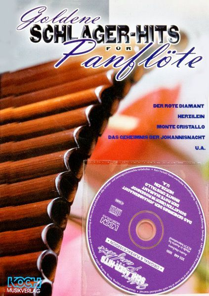 Noten GOLDENE SCHLAGERHITS FÜR PANFLÖTE  incl. CD Koch Verlag 023511