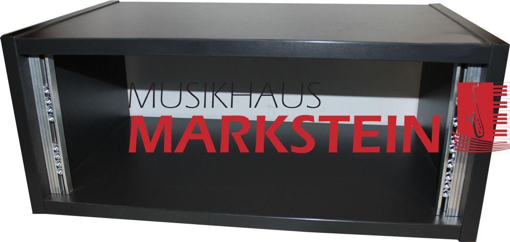"""MHM 19"""" 4 HE Studio Desktop Rack Graphit schwarz inkl. Schraubensatz"""