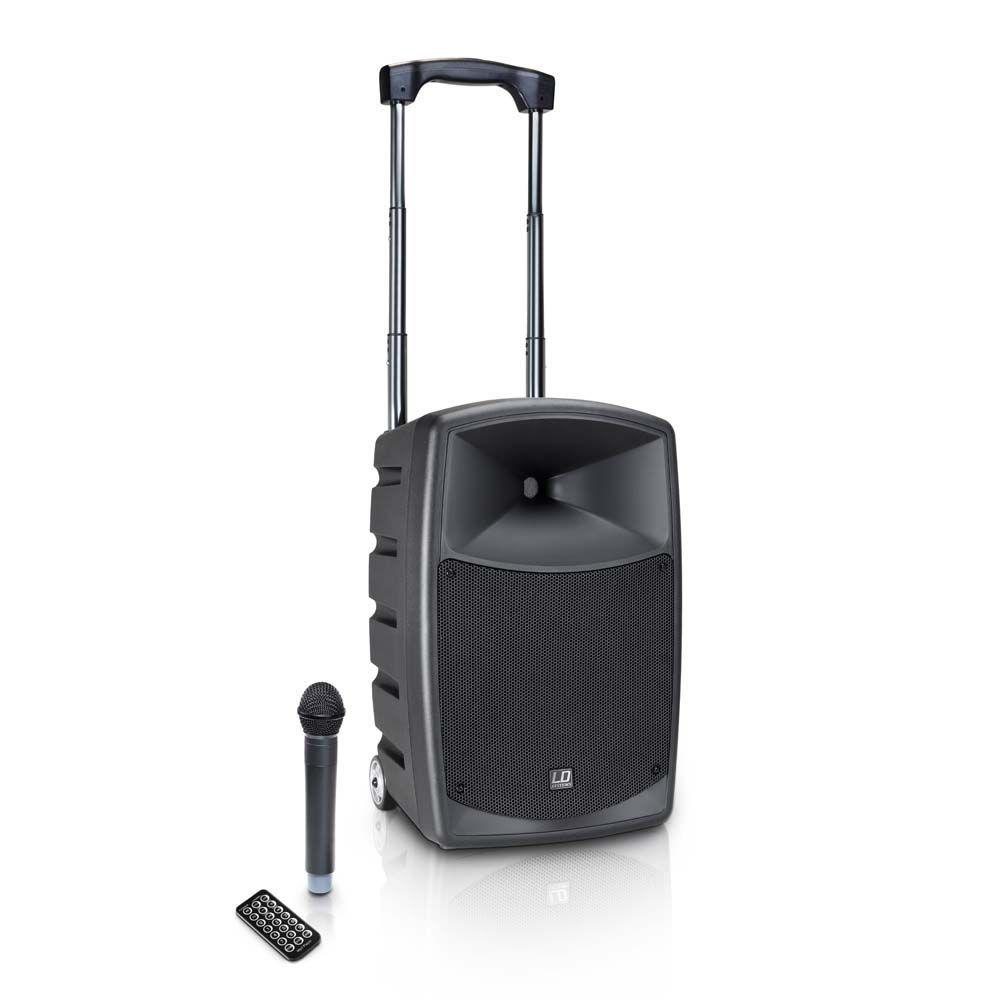LD Systems Roadbuddy 10 Akkubetriebene Bluetooth-Lautsprecherbox mit Funkmikro