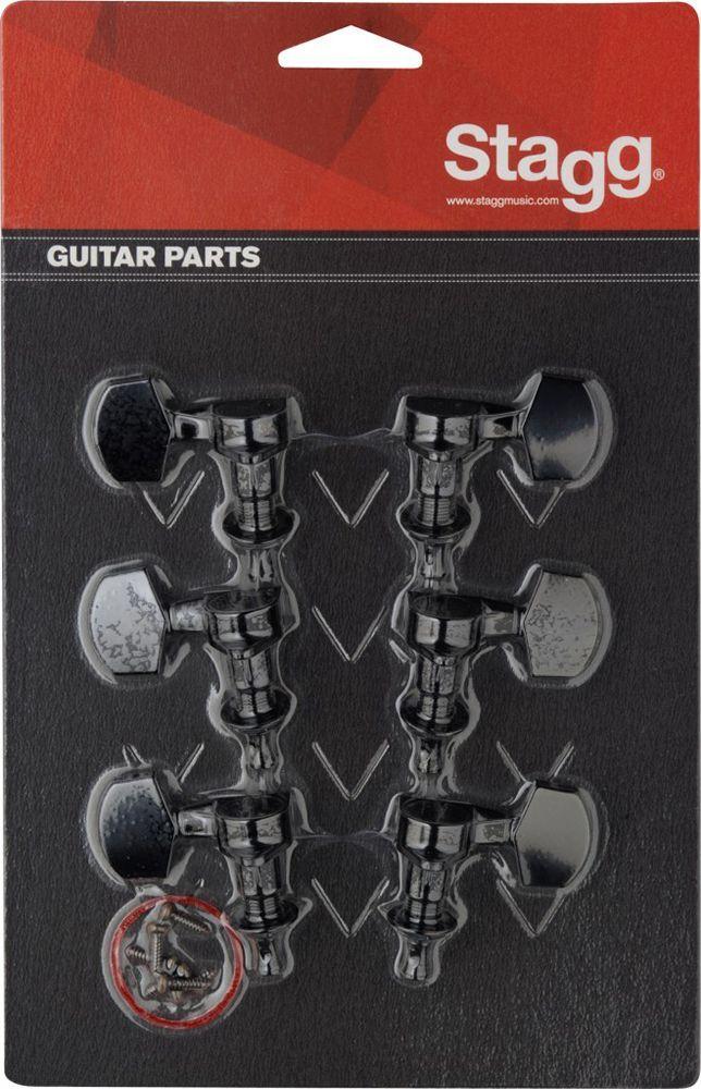 Stagg Mechanik für E-Gitarre 3L/ 3R, gekapselt, schwarz