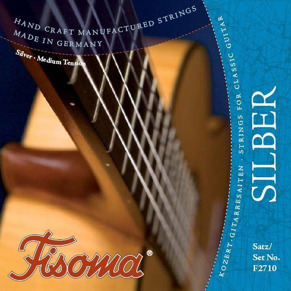 Fisoma F2710 Silber Nylonsaiten Satz Konzertgitarre Saiten Handarbeit