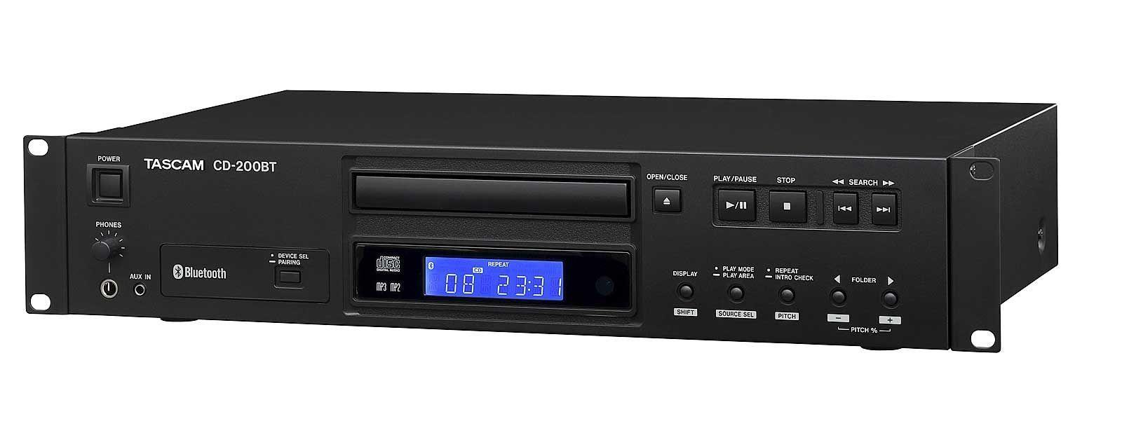 Tascam CD-200 BT CD-Player mit Bluetooth-Empfänger inkl. Fernbedienung