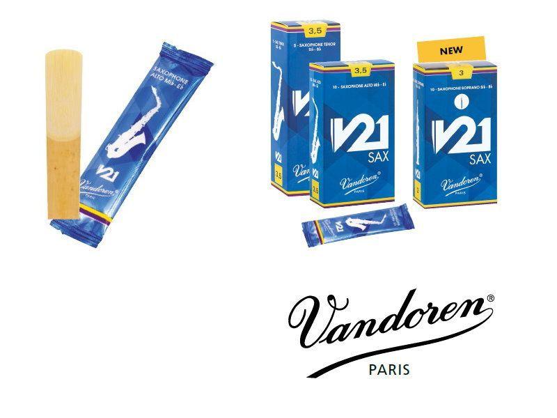 Vandoren V-21 Altsaxophon Blatt 2,5 - ( in Stärken ab 2,5 - 5.0 erhältlich) V21