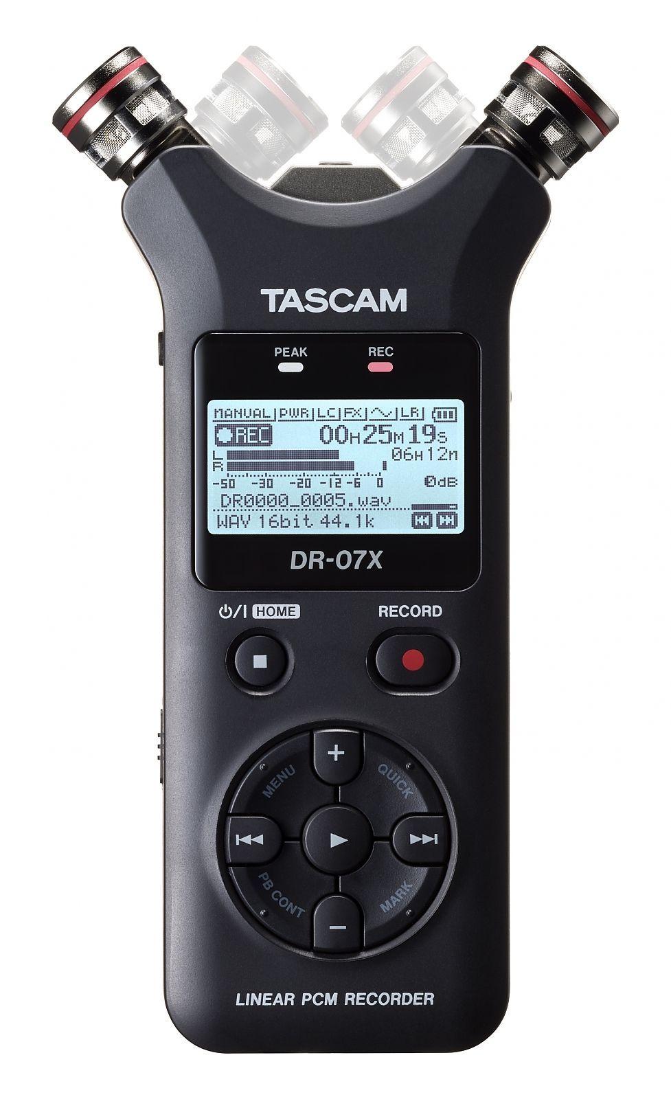 Tascam DR-07X  tragbarer Digitalrecorder und USB-Audiointerface