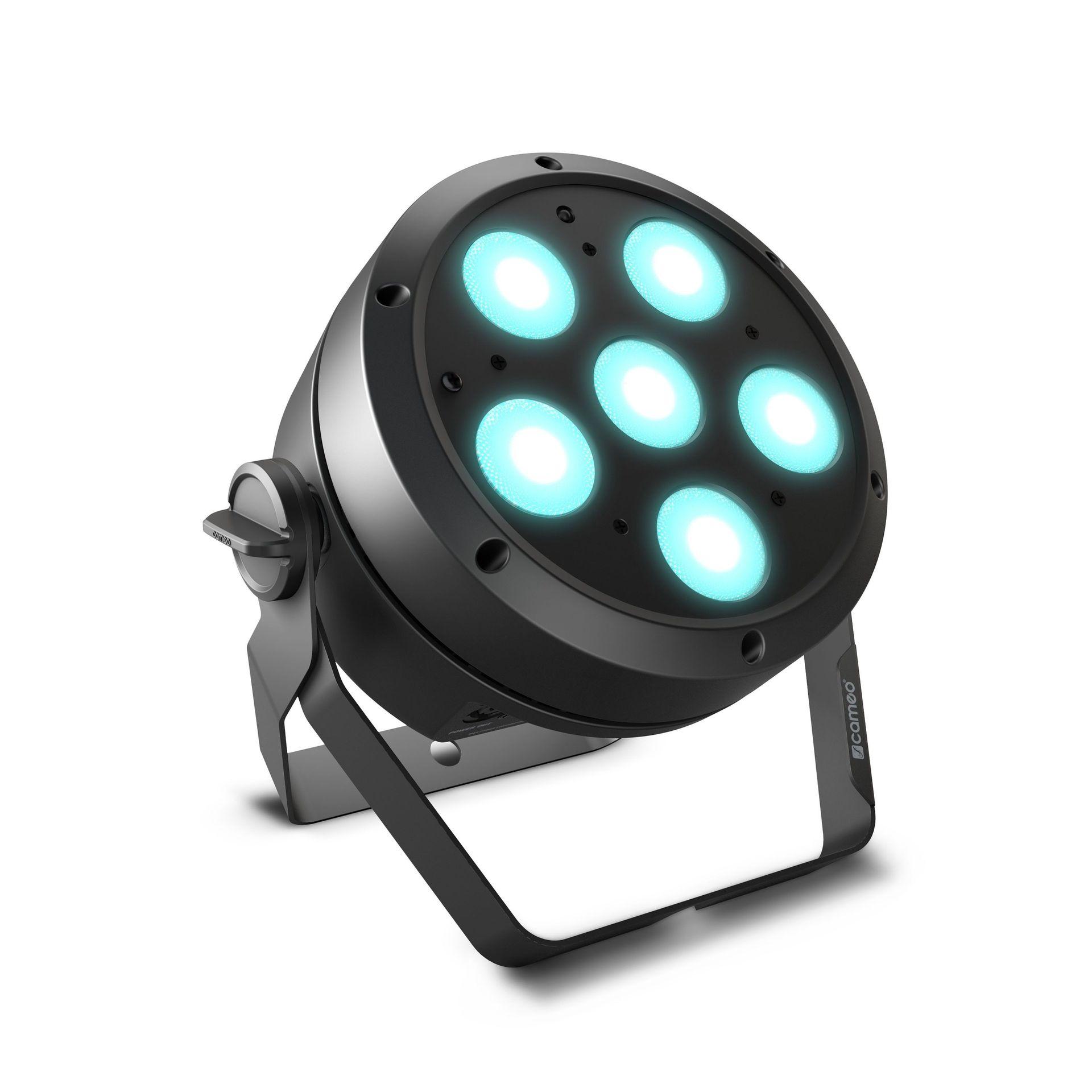 Cameo ROOT PAR 6 schwarz   6 x 12W RGBAW + UV LED PAR Scheinwerfer
