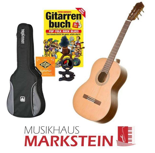 MarkGuitar Konzertgitarren SET Advanced, Paket: Gitarre lernen