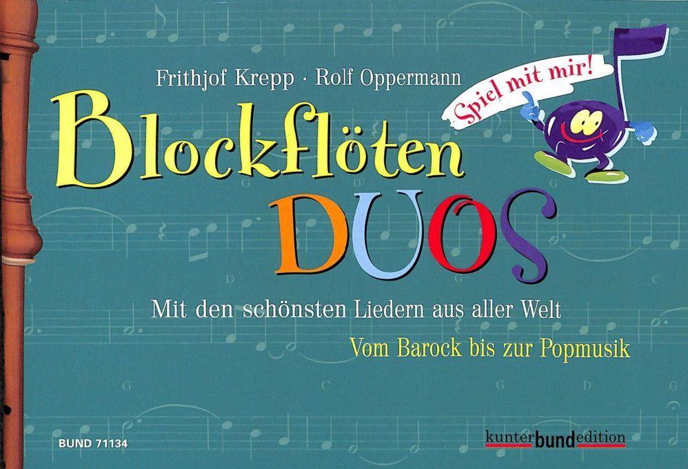 Noten Spiel mit mir Blockflöten Duos Frithjof Krepp 71134