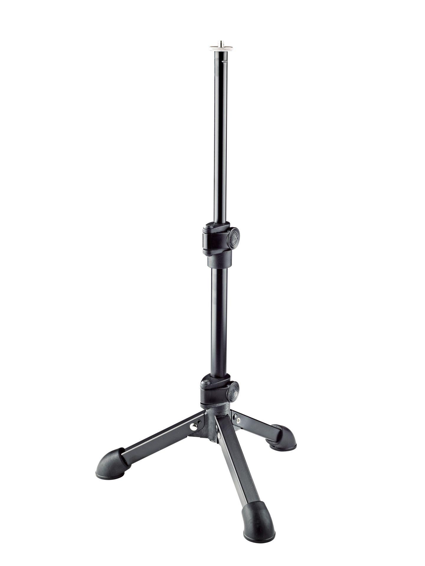 """K&M 23150 1/4"""" Gewinde, Tischstativ mit 3-Fuß, für Handyrekorder und Kameras"""