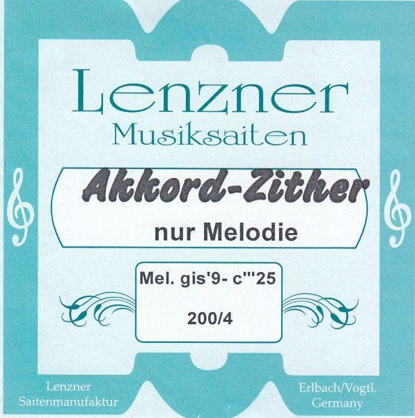 Lenzner Zither-Saiten Akkordzither, original Saiten für 331/200-4 25 Saiten