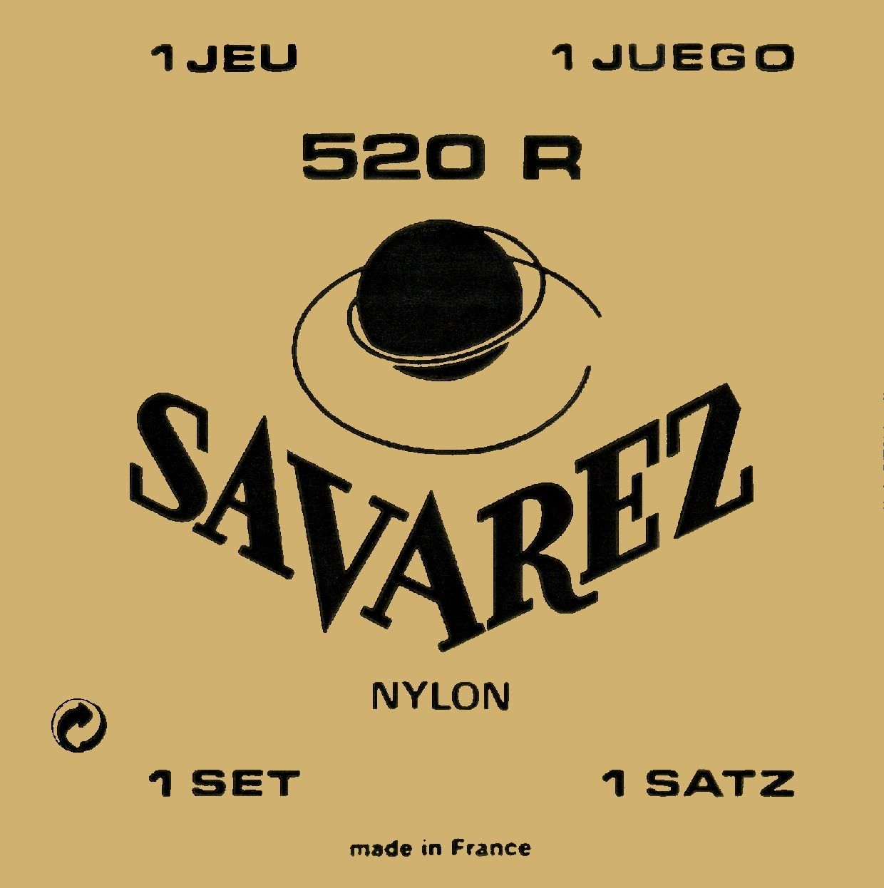 Savarez 520R Nylonsaiten-Satz für Konzertgitarre  Medium Tension