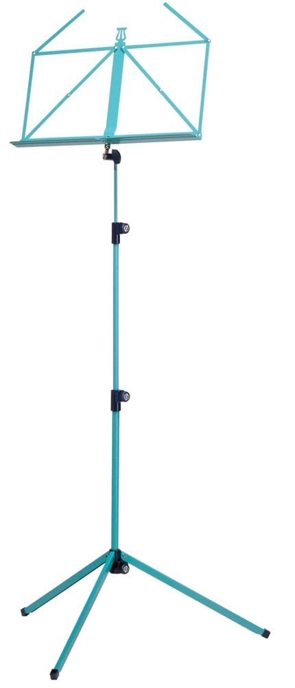 K&M 10010 Notenpult grün , Höhe 625 - 1240 mm, zusammengelegt 460mm  100/1