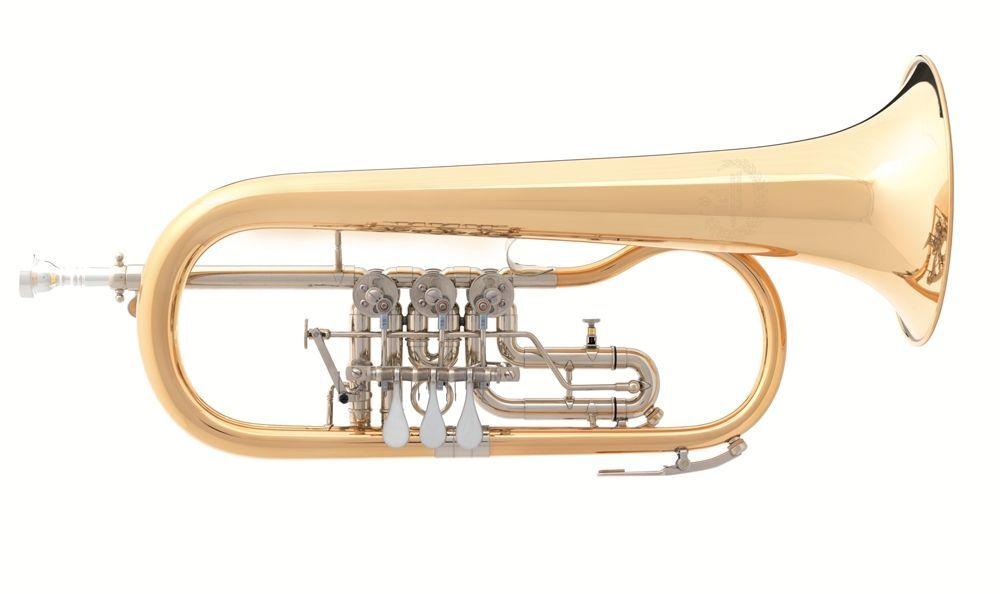 B&S 3017/2 GT-1-0 B-Konzert-Flügelhorn, Bohrung 11,00mm,  incl.Etui u. Zubehör