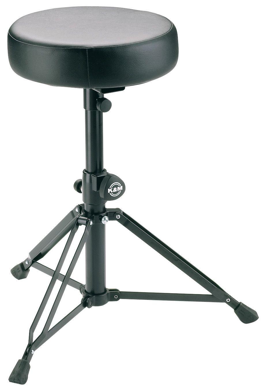 K&M 14015 Drumhocker runde Sitzfläche Leder sehr stabil Lochraster