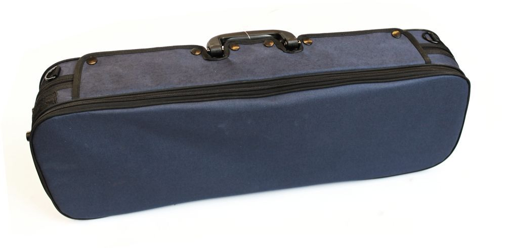 Etui Violine 4/4 Größe CVK-02 Rechteck-Koffer blau, Rucksackträger