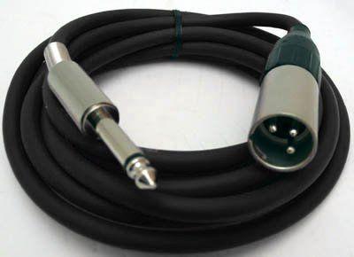 Mikrofonkabel Alcatel XLR male/ 6,3mm Klinkenstecker, 3 Meter, schwarz
