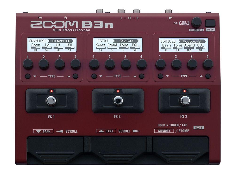 Zoom B3n Multieffektgerät für E-Bass neue Serie