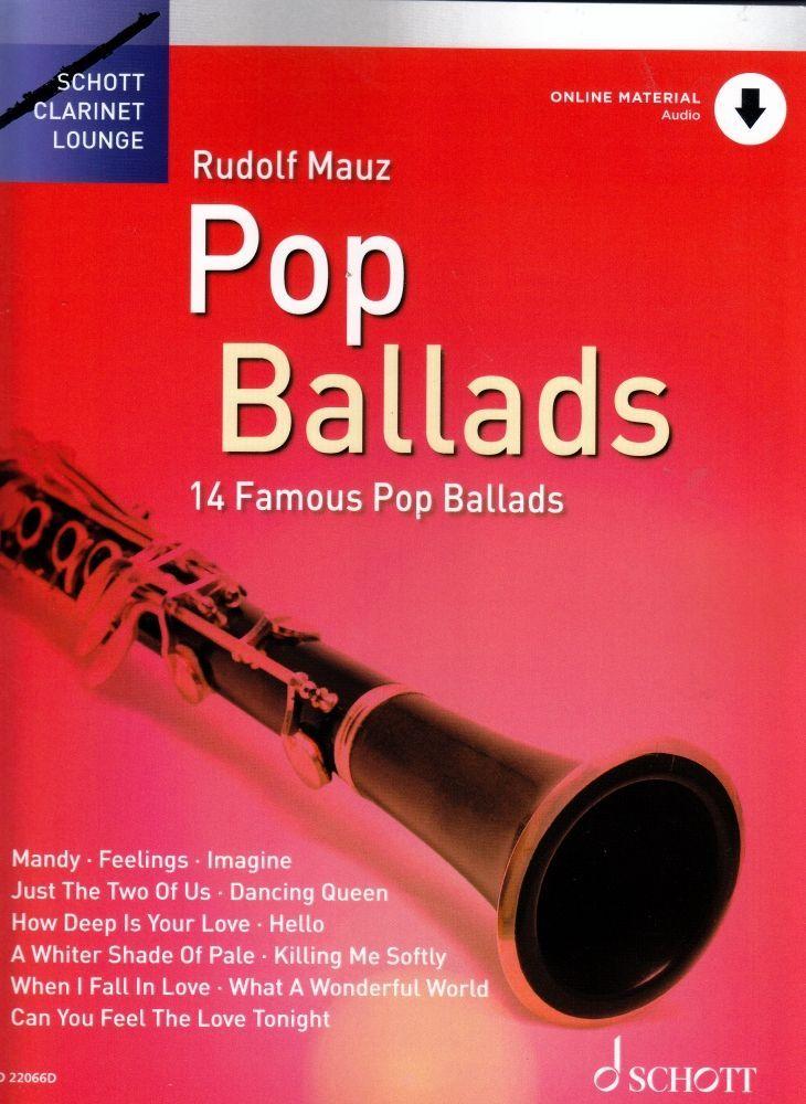 Noten Klarinette Pop Ballads Balladen Schott ED 22066D Rudolf Mauz