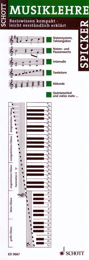 Musiklehrespicker kompakt Noten Takte Pausen Schott ED 9667