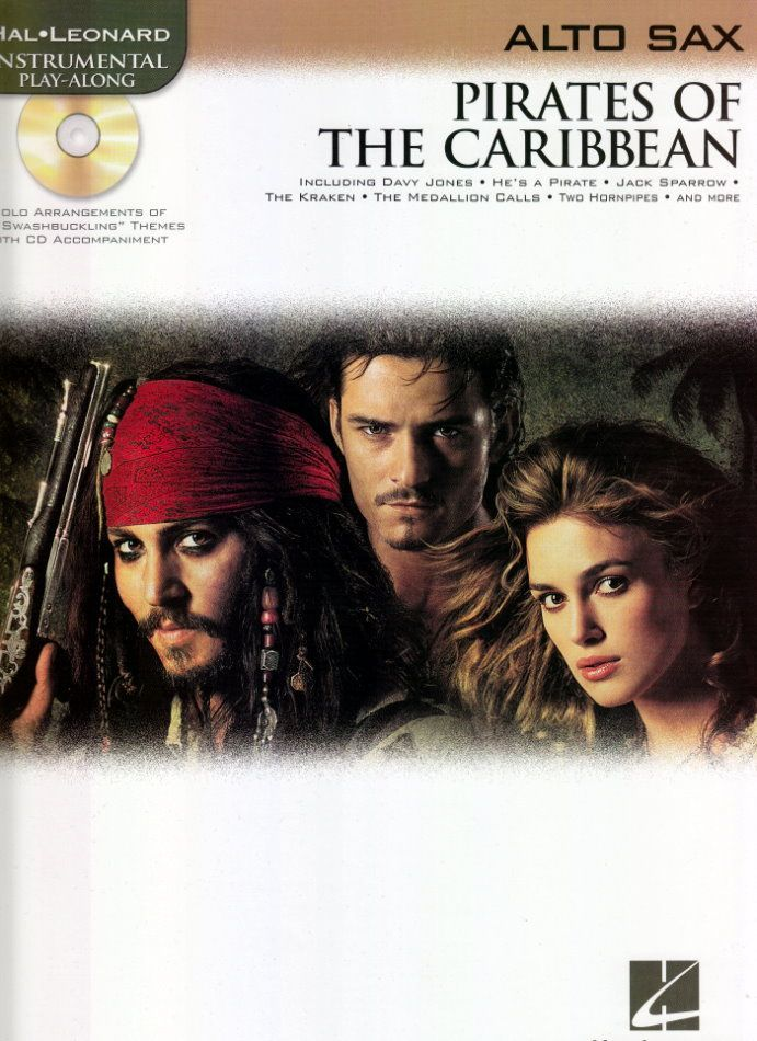Noten Pirates of caribbean Fluch der Karibik incl. CD HL 842185 Altsaxophon