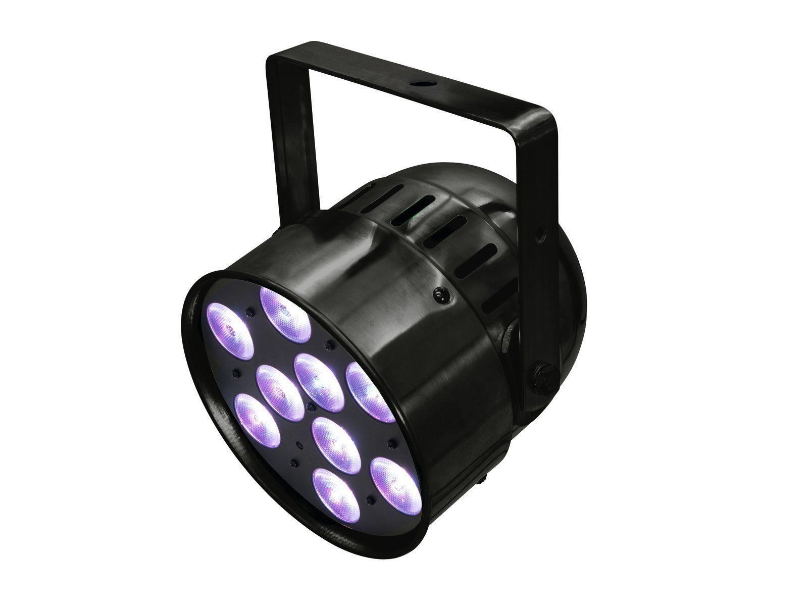 EUROLITE LED PAR-56 HCL Short schwarz PAR-Scheinwerfer mit RGBAW+UV-Farbmischung