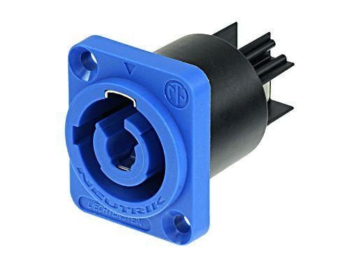 PowerCON Neutrik NAC3MPA-1 Einbaukupplung blau