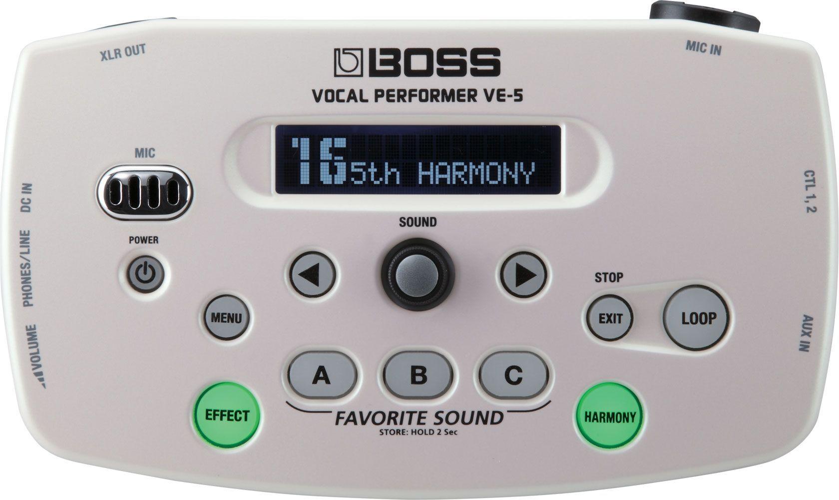 Boss VE-5 WH  Vocal Performer, vielseitigen Vocal Processor, Vocalist