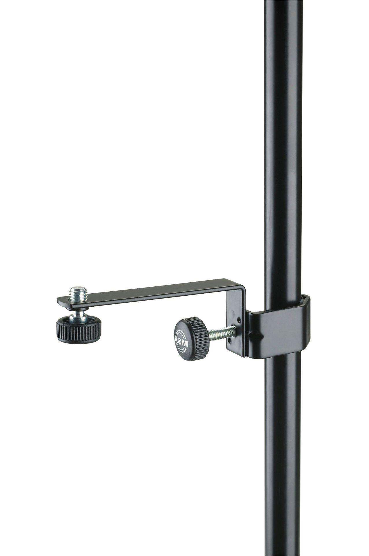 K&M 238 Mikrofon-Halteschiene für Mikrofonstativ, schwarz