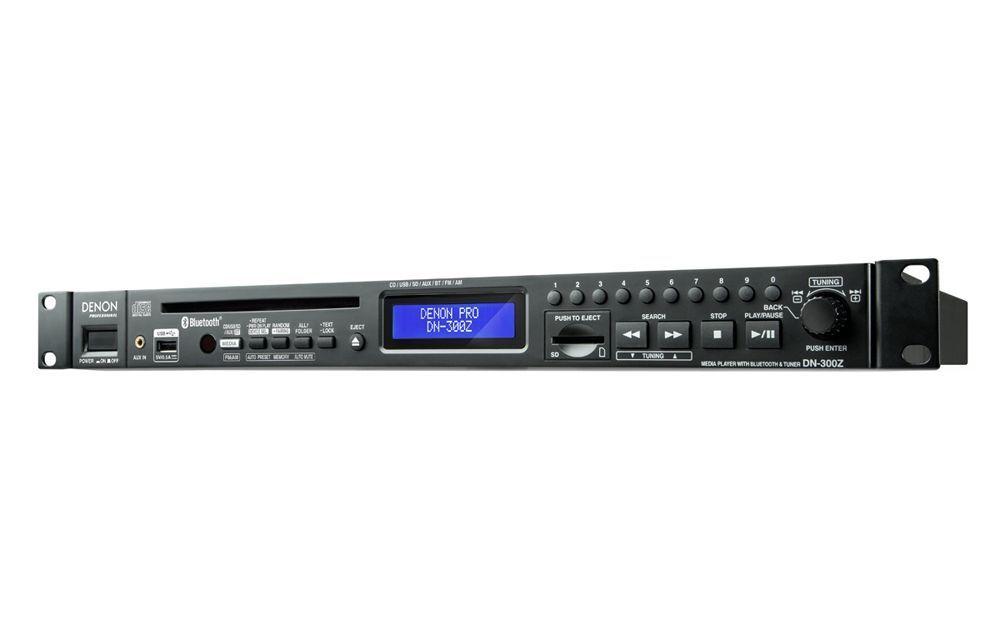 "Denon DN-300Z MK ll 19"" 1 HE CD, USB, SD, MP3, Bluetooth Audioplayer mit Tuner"