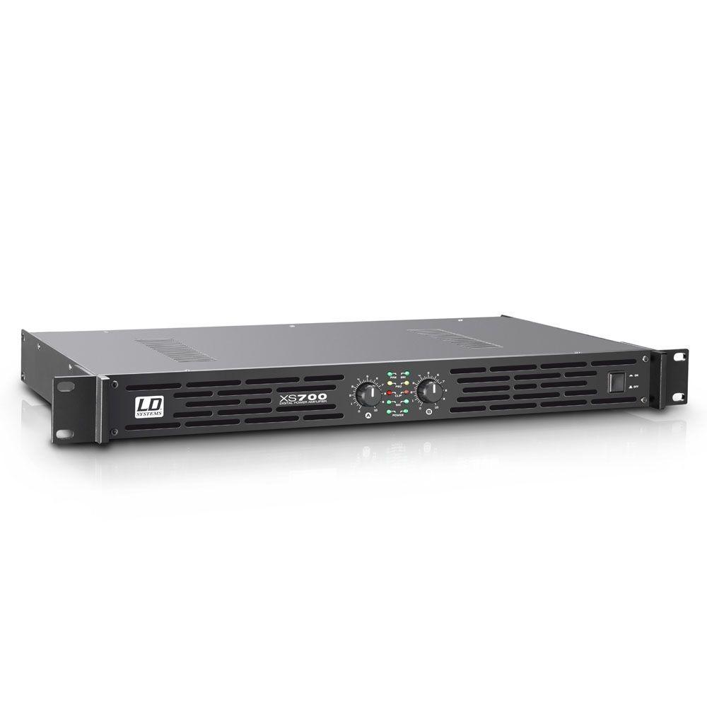 LD Systems XS 700 Endstufe 2x 350 Watt / 4 Ohm  1 HE Class-D Power Amp