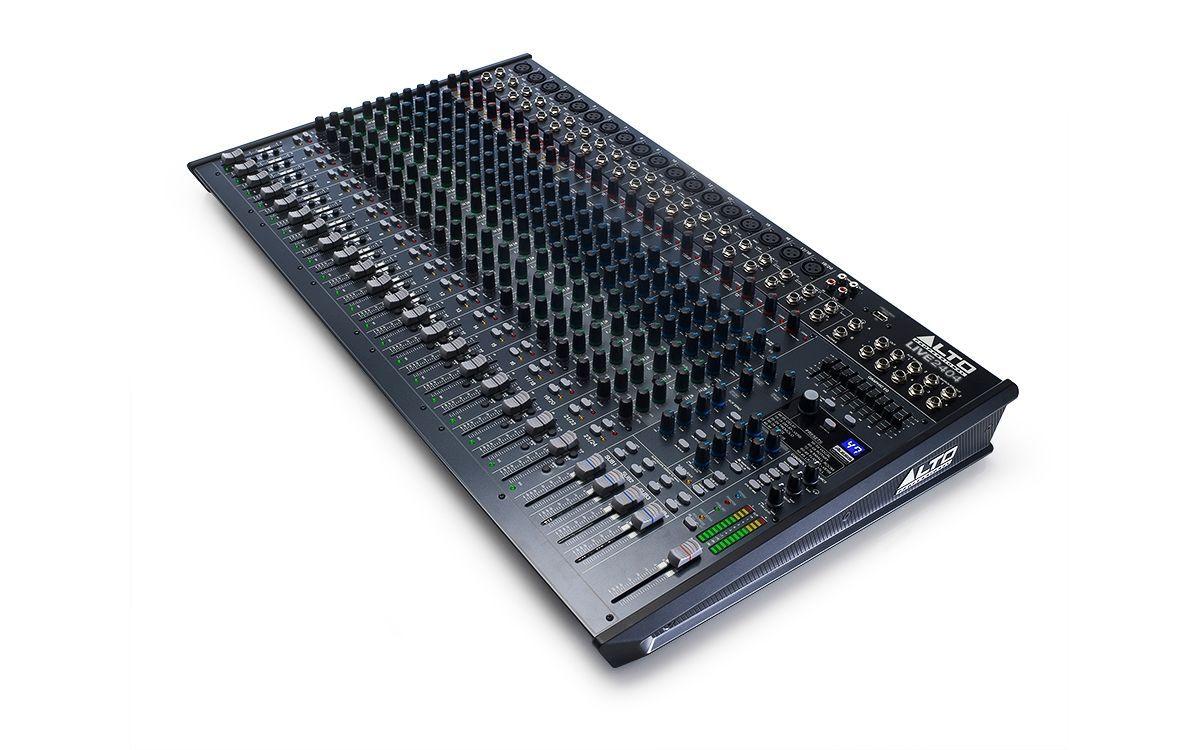 Alto Live 2404 Mixer, 24 Kanal Mischpult, Dynamic Kompressor Kanal 1-8, Effekte