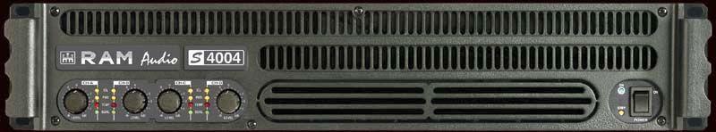 RAM Audio S 4004 Mehrkanal Endstufe 4x 670 Watt 2HE Power Amp ca. 2x 2000 Watt