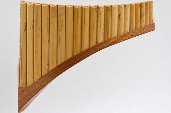 Plaschke S20 Panflöte G-Dur / 20 Rohre Holzschuh, Schilf, elektronisch gestimmt