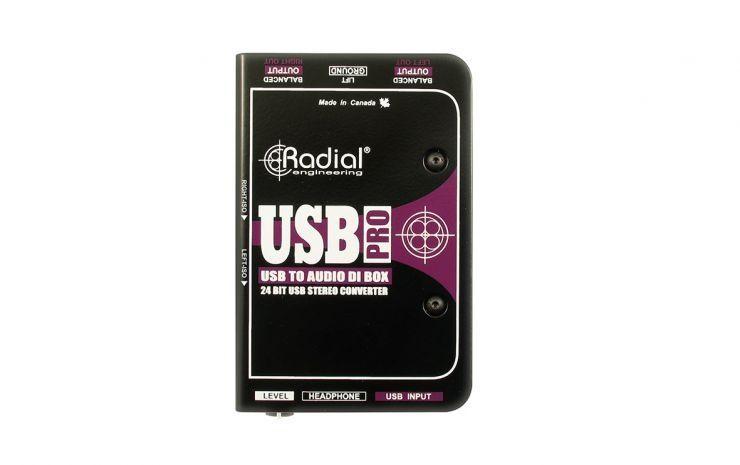 Radial Engineering USB Pro Stereo USB DI-BOX für Tonübertragungen mit PC/ Laptop