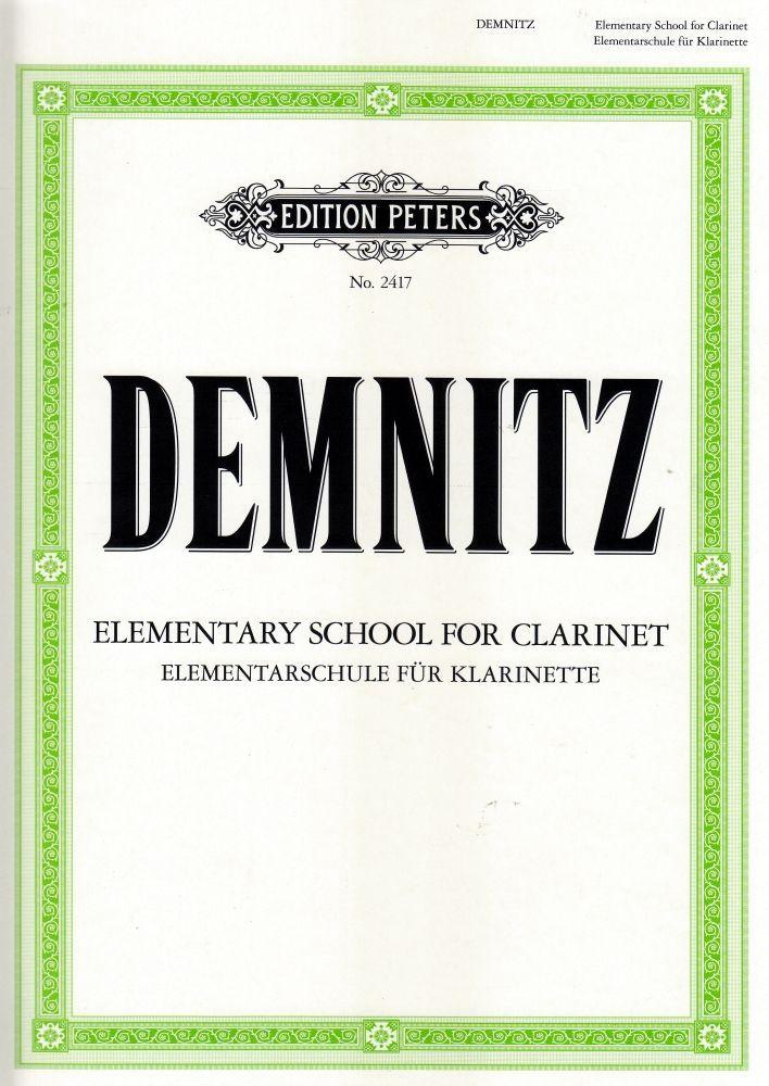 Noten Elementarschule für Klarinette Demnitz EP 2417 Edition Peters