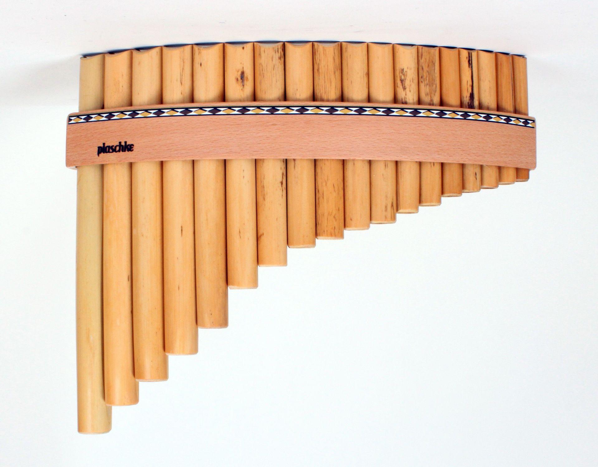 Plaschke R18 C Panflöte C-Dur / 18 Rohre Schilf, elektronisch gestimmt