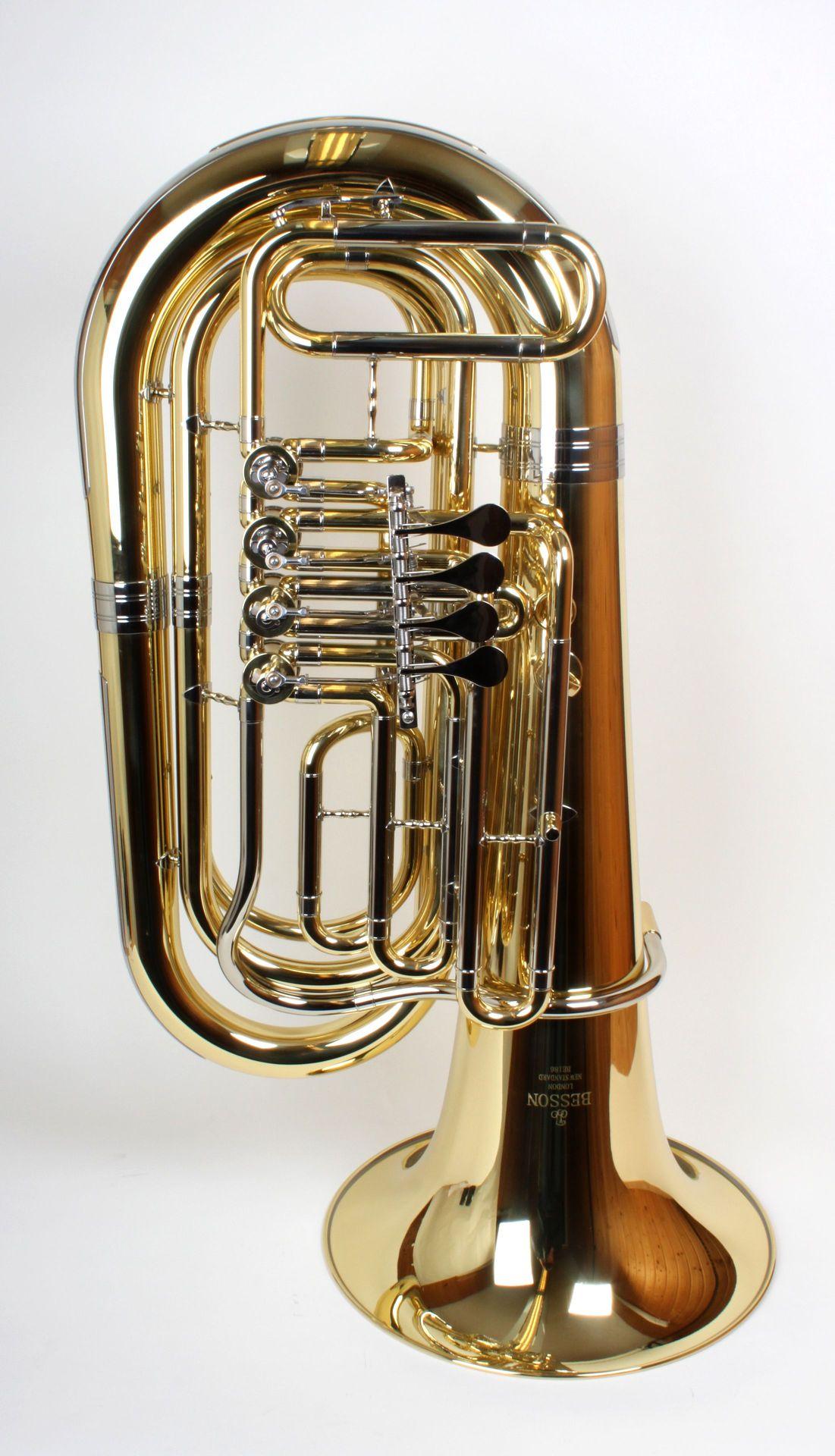 Besson 186 Tuba, Bb-Tuba 1/4, Bohrung 16,00mm, 4 Ventile, Etui + Zubehör 186-1-0