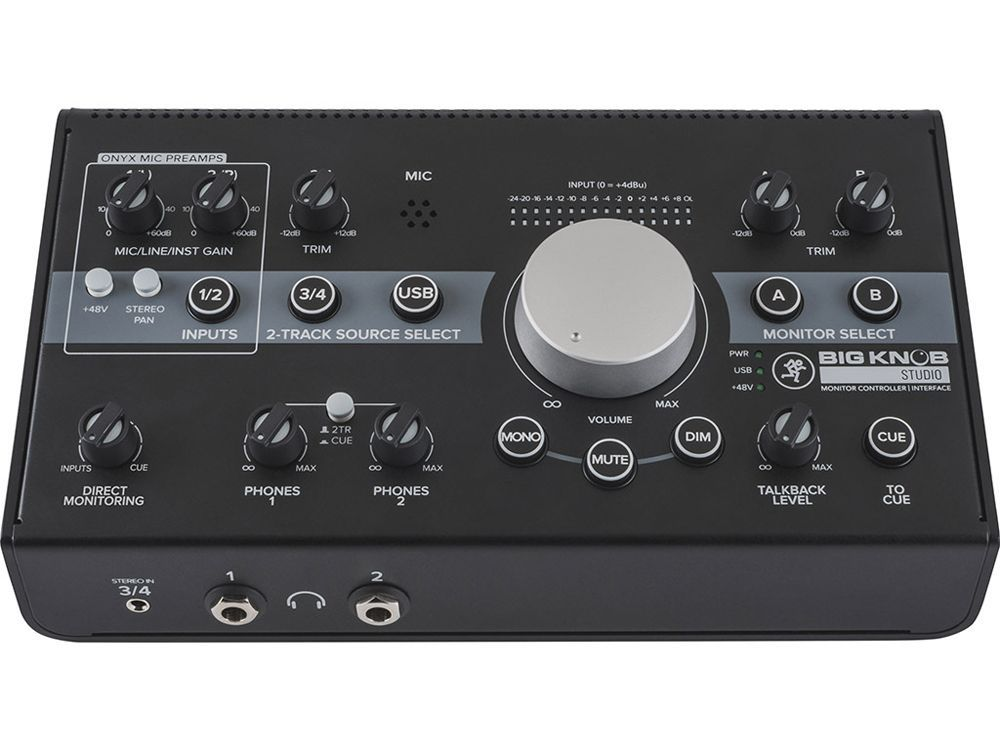 Mackie Big Knob Studio  Aktiver Monitor Controller und USB Audiointerface