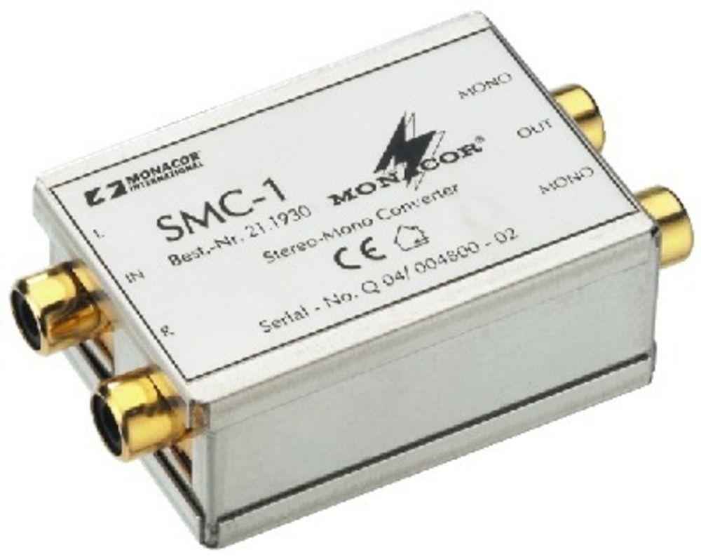 Monacor SMC-1 Stereo/Mono-Konverter mit Cinch-Anschlüsse