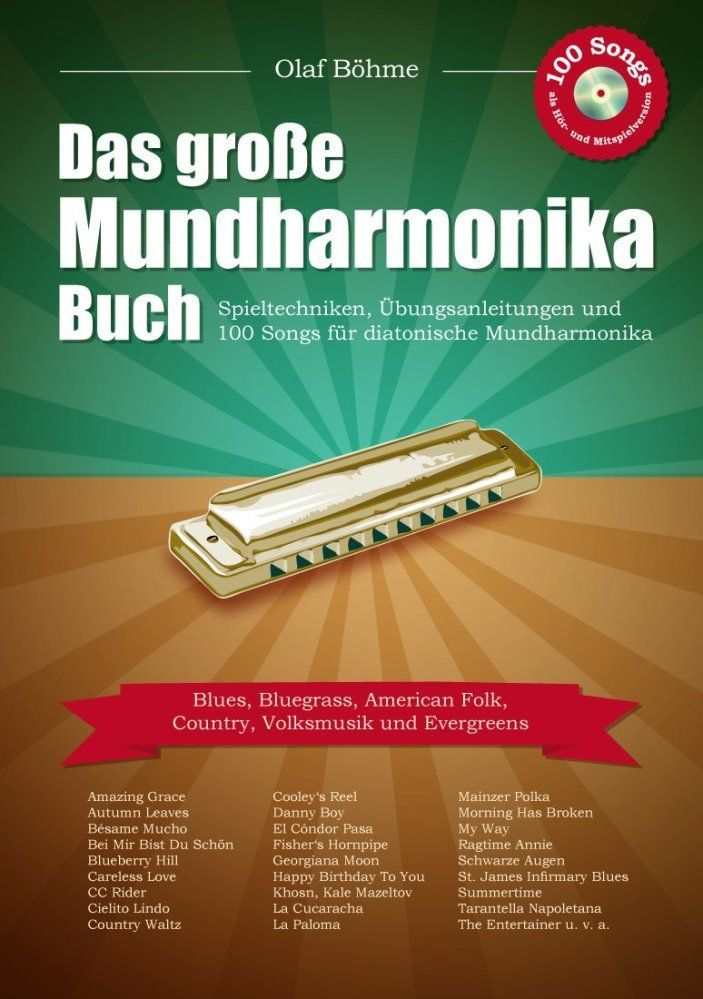 Noten Das grosse große Mundharmonikabuch Olaf Böhme incl. CD 100 Songs